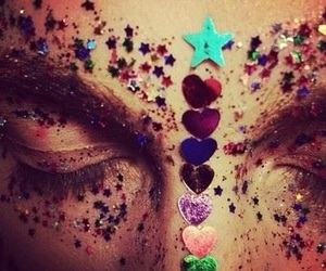 girl, glitter, and stars image