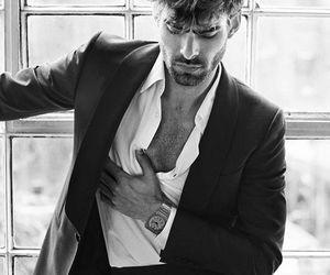 black and white, Jon Kortajarena, and model image