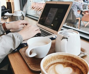 coffee, cafe, and study image