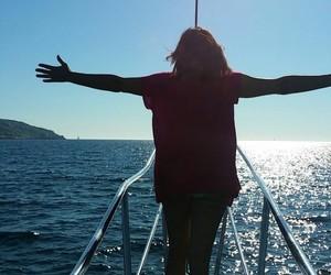 freedom, travel, and sea image