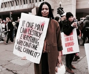 don't give up, girl power, and womens march image