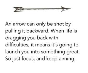 arrow, quotes, and wise image