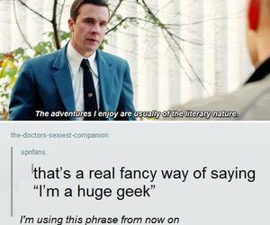 funny, geek, and supernatural image