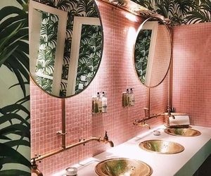 bathroom, cool, and green image