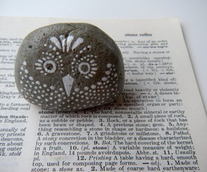 owl, art, and book image