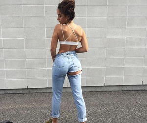 girl, style, and jeans image