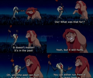 lion king, quote, and past image