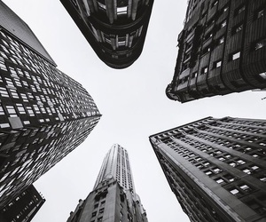 city, black, and photography image