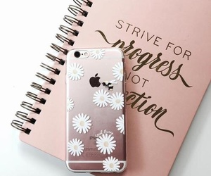 iphone, flowers, and pink image