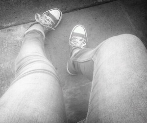 black&white, converse, and fat image