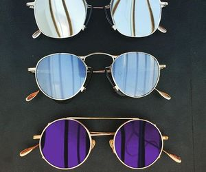 accessories, blue, and glasses image