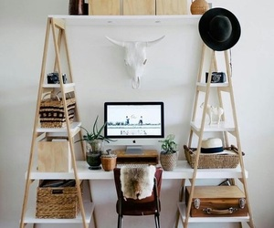 bedroom, desktop, and boho image