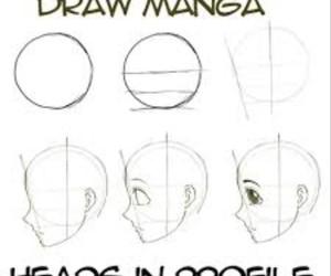 manga, draw, and drawing image