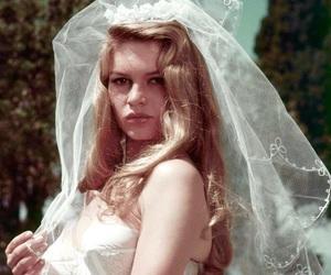 brigitte bardot, vintage, and bride image