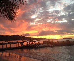 nature, paradise, and sunset image