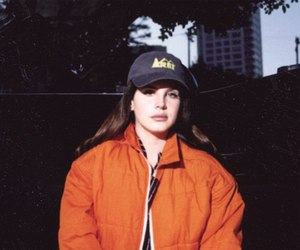 lana del rey, orange, and aesthetic image