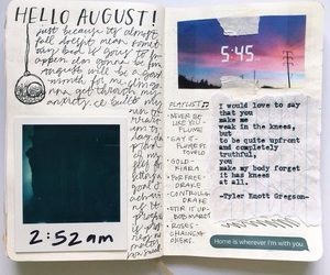 diary, art, and journal image