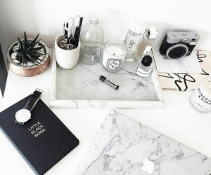 article, white, and marble image