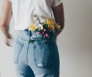 fashion, flowers, and grunge image