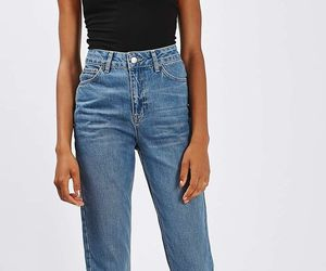 black, mom jeans, and fashion image