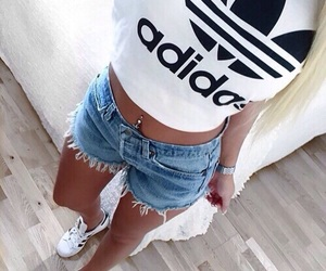 abs, adidas, and white shirt image