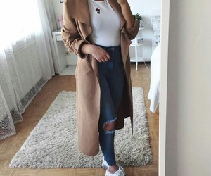 autumn, casual, and coat image