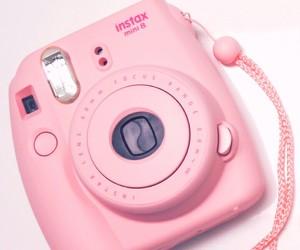 beautiful, camera, and pink image