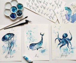 art, pretty, and blue image