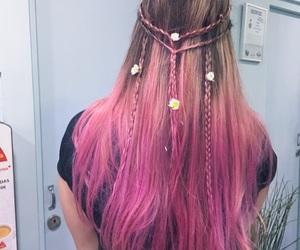 braid, braided hair, and braids image