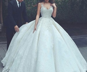 wedding, dress, and princess image