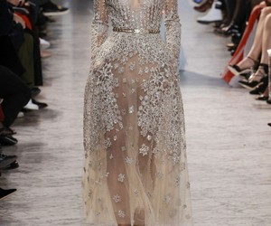elie saab, dress, and runway image