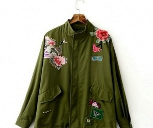 flores, moda, and verde image