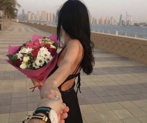 couple, flowers, and goals image