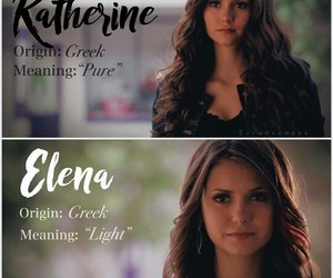 the vampire diaries, elena, and katherine image