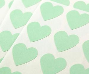 hearts, mint, and pale image