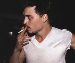 johnny depp, cigarette, and smoke image