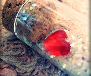 heart, bottle, and red image