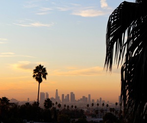 los angeles and sunrise image