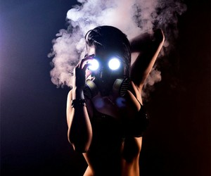 smoke, girl, and sexy image
