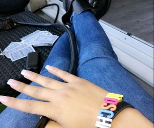 foot, jean, and Moschino image
