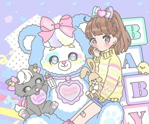 anime, art, and baby doll image