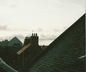 house, sky, and roof image