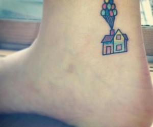 tattoo, balloons, and up image