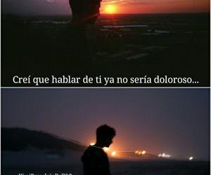 grunge, triste, and frases en español image