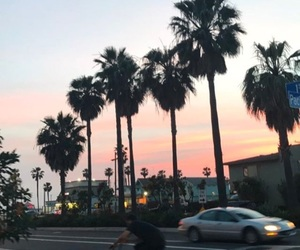 california, pink, and sunset image