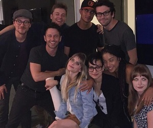 scream, carlson young, and cast image