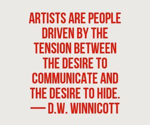 quote, artist, and art image