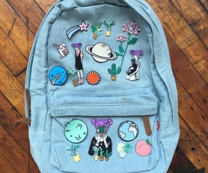 blue, backpack, and bag image