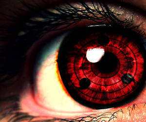 eye, red, and anime image