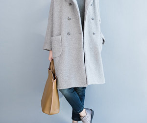 etsy, wool coat, and long overcoat image